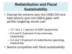 redistribution and fiscal sustainability