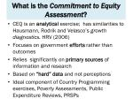 what is the commitment to equity assessment1