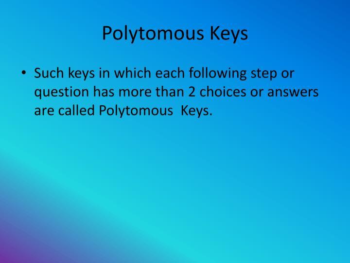 Polytomous