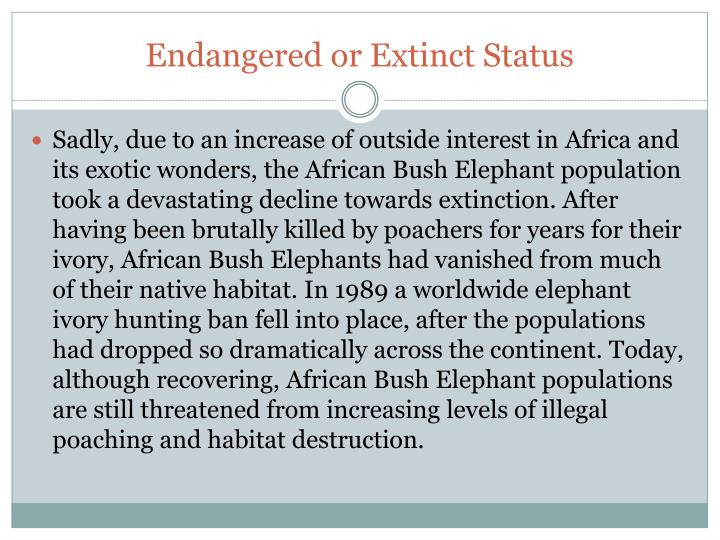 Endangered or Extinct Status