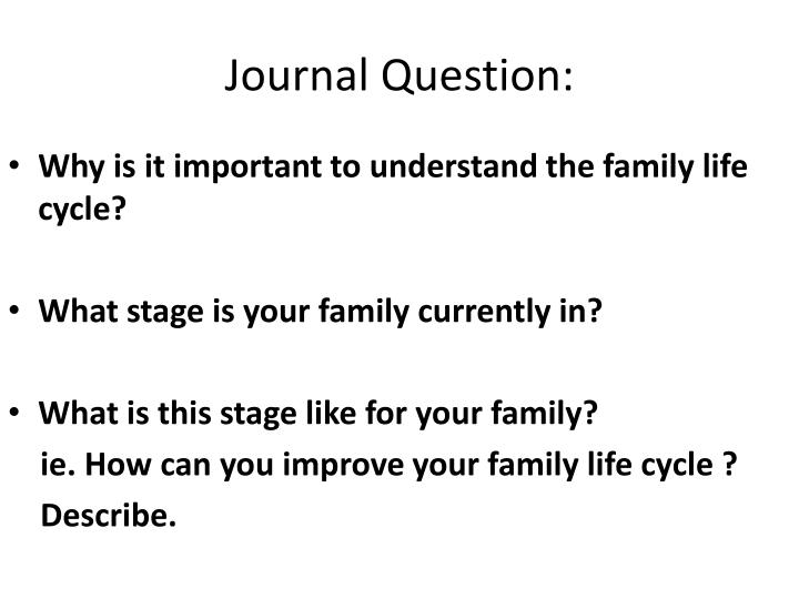 Journal Question: