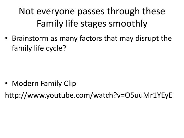 Not everyone passes through these Family life stages smoothly