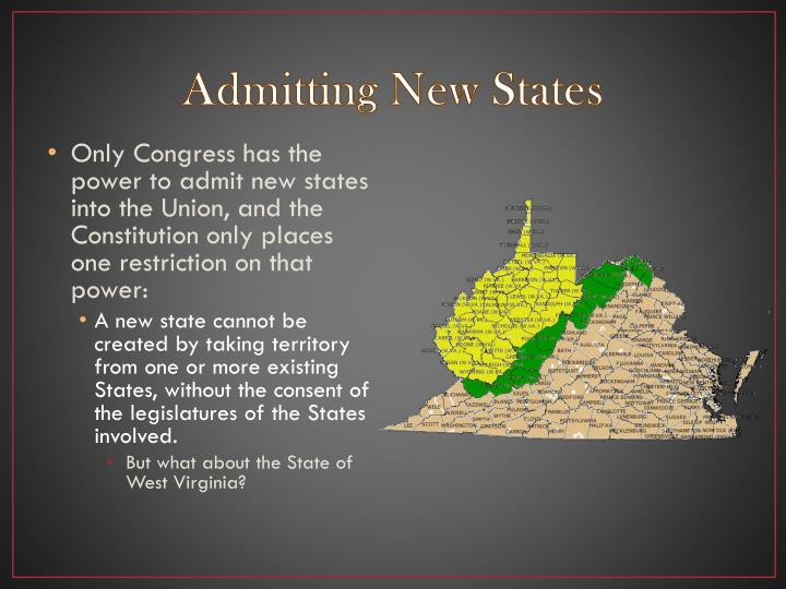 Admitting New States