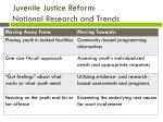 juvenile justice reform national research and trends
