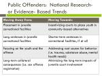 public offenders national research or evidence based trends