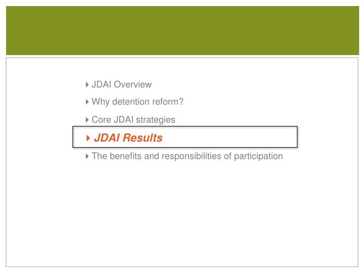 JDAI Overview
