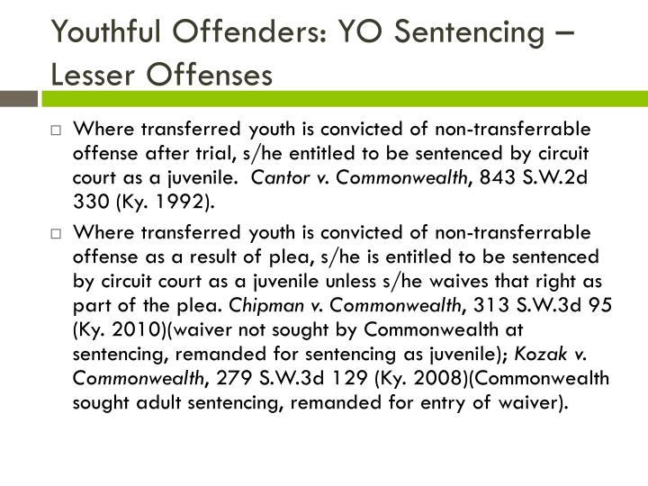 Youthful Offenders: YO