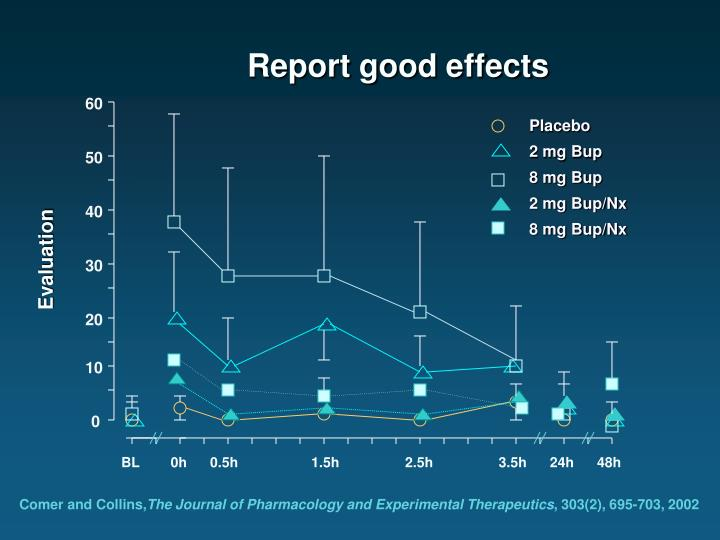 Report good effects