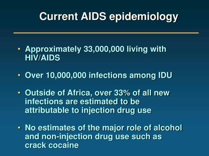 Current AIDS epidemiology