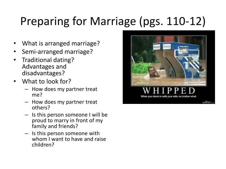 Preparing for Marriage (pgs. 110-12)