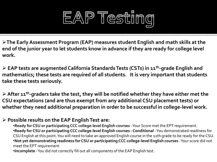 EAP Testing