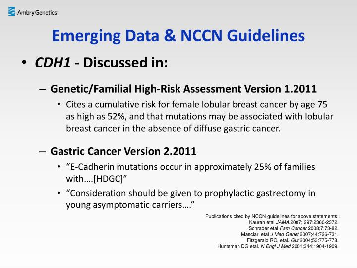 Emerging Data & NCCN Guidelines