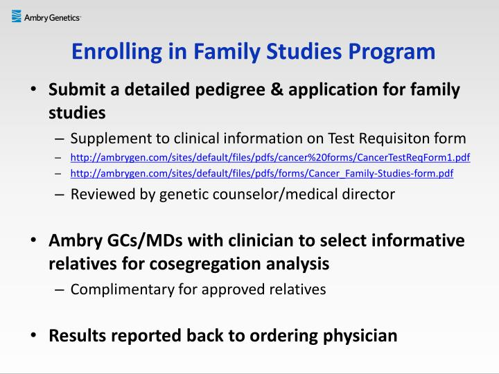 Enrolling in Family Studies Program