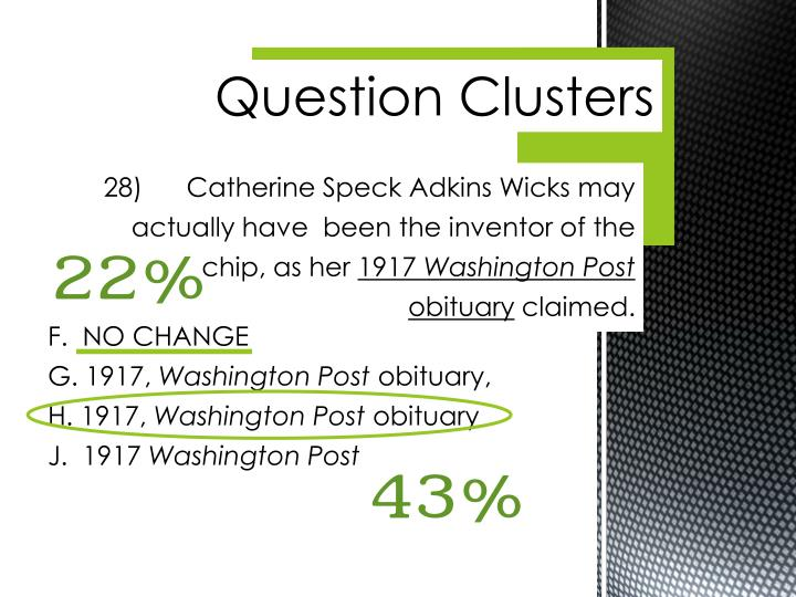 Question Clusters