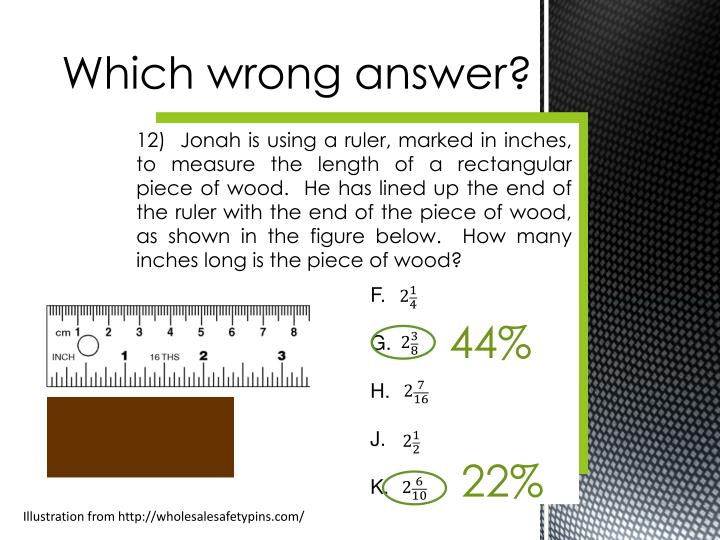 Which wrong answer?