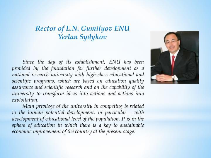 Rector of L.N.