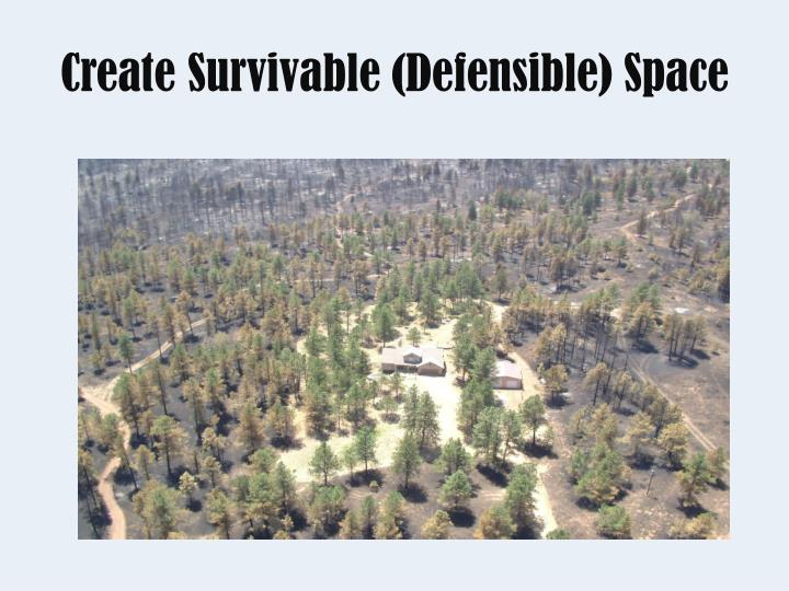 Create Survivable (Defensible) Space