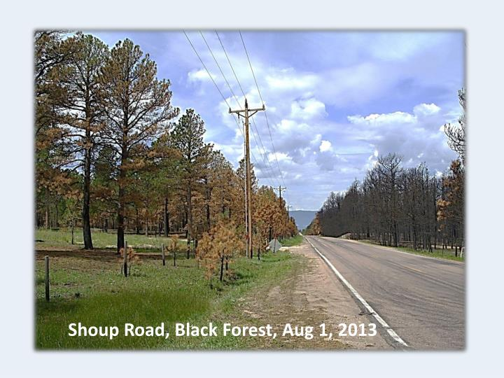 Shoup Road, Black Forest, Aug 1, 2013