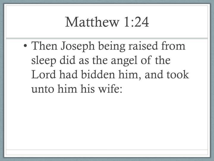 Matthew 1:24