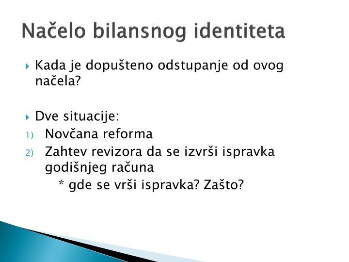 Načelo bilansnog identiteta