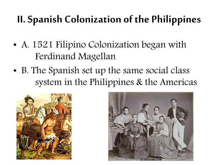 II. Spanish Colonization of the Philippines