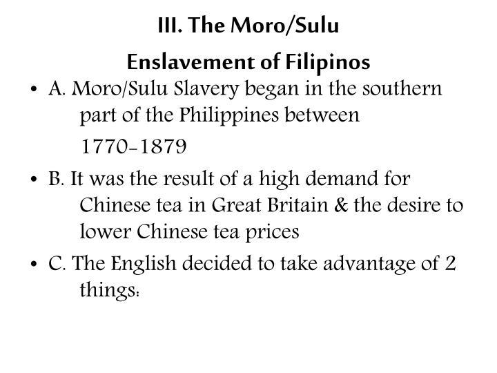 III. The Moro/Sulu