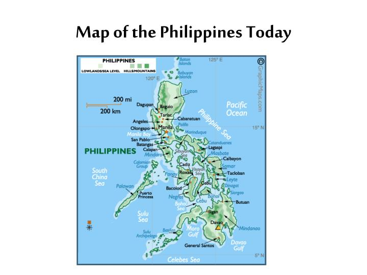 Map of the Philippines Today