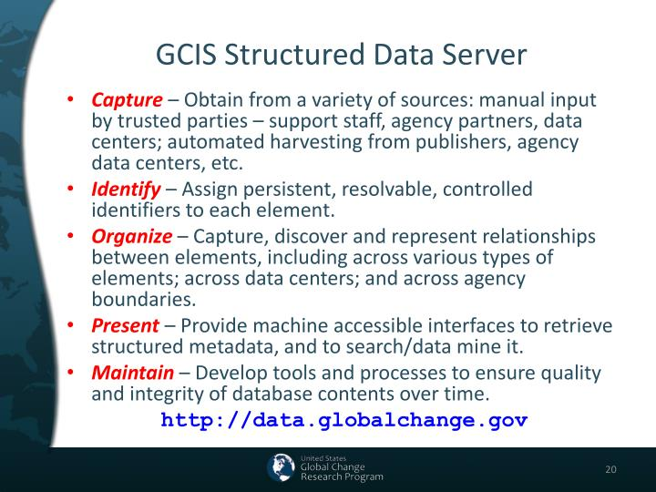 GCIS Structured Data Server