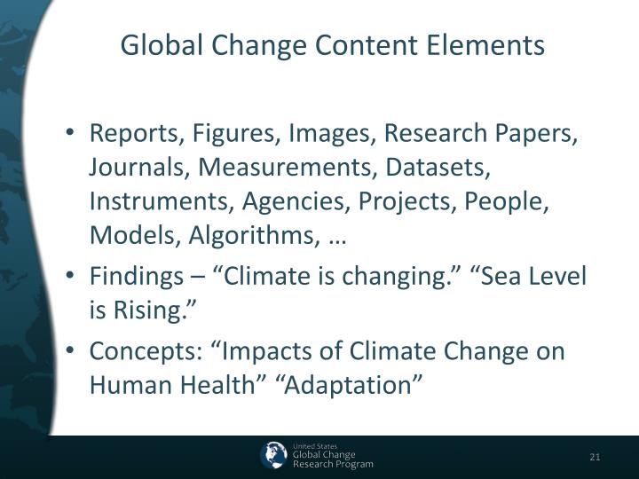 Global Change Content Elements