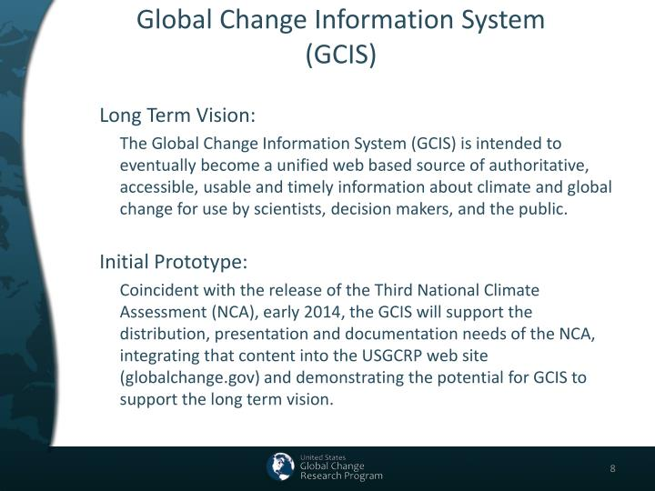 Global Change Information System