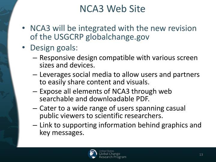 NCA3 Web Site