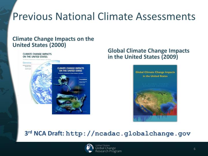 Previous National Climate Assessments