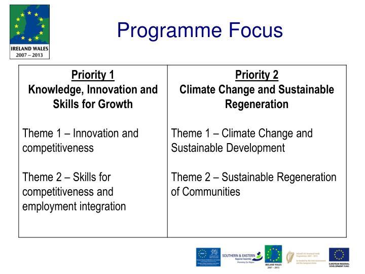 Programme Focus