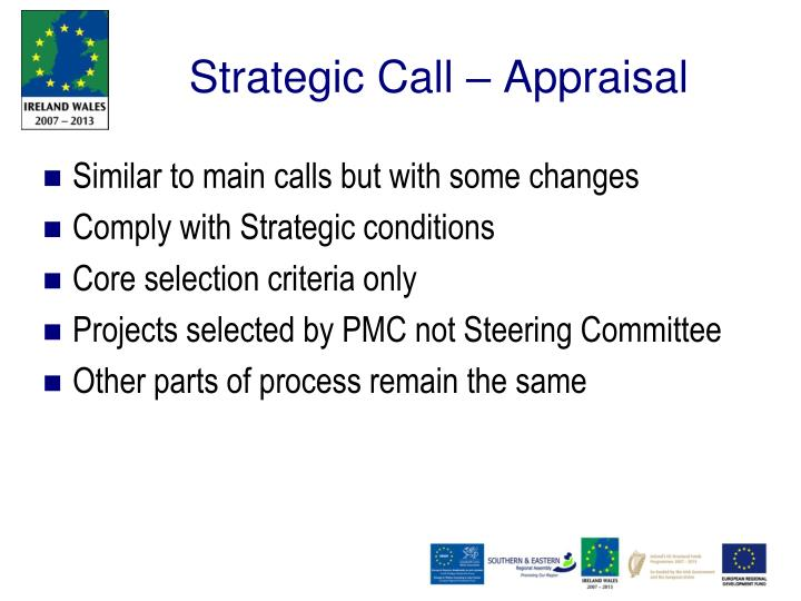 Strategic Call – Appraisal