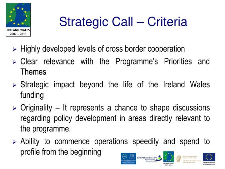 Strategic Call –