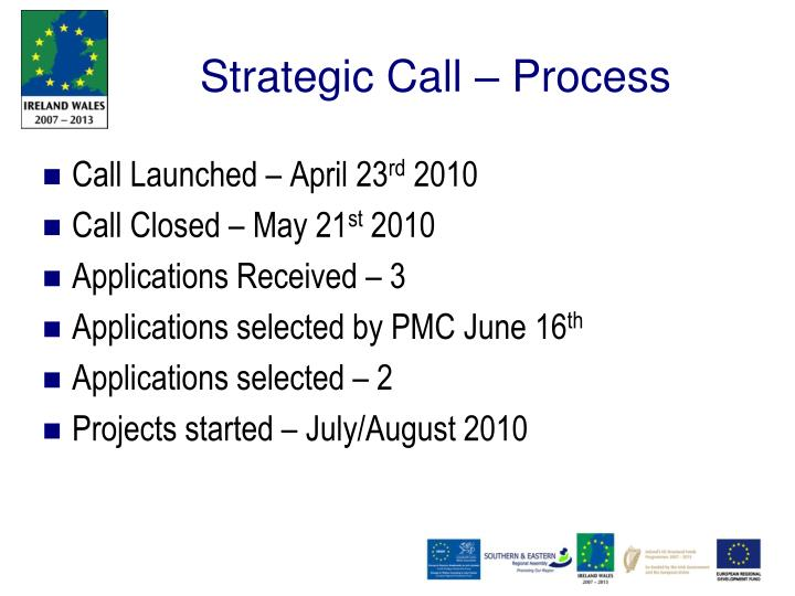 Strategic Call – Process