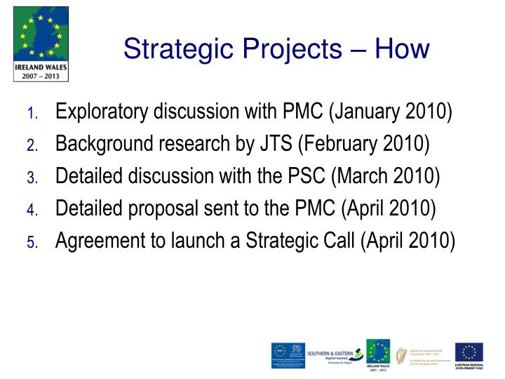 Strategic Projects – How