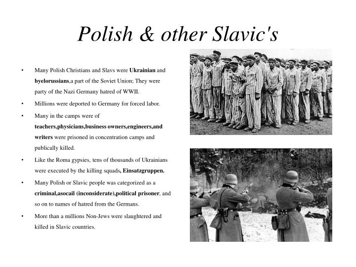 Polish & other Slavic's