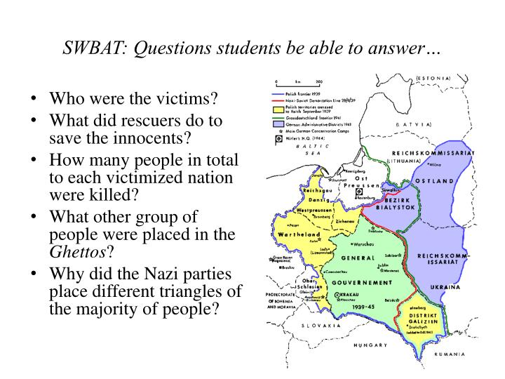 SWBAT: Questions students be able to answer…