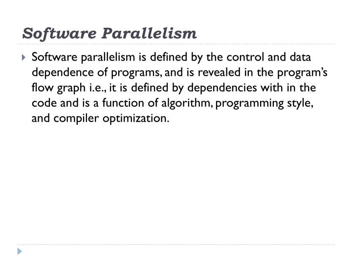 Software Parallelism