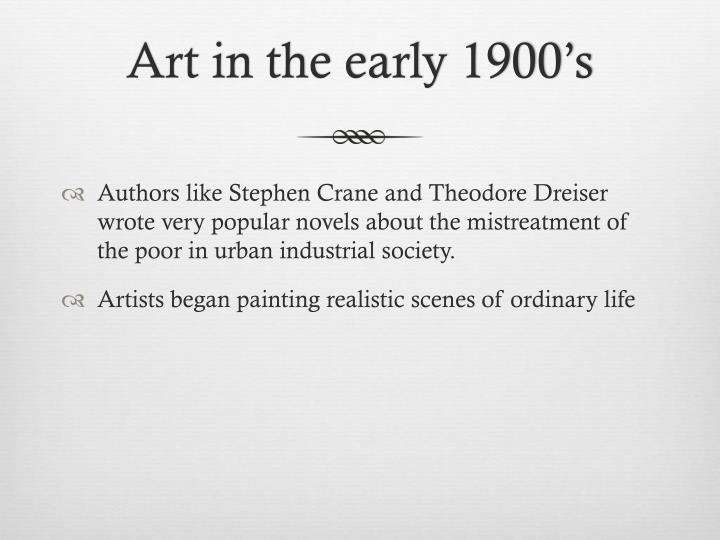 Art in the early 1900's