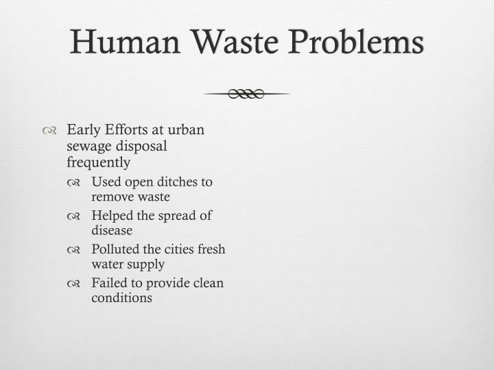 Human Waste Problems