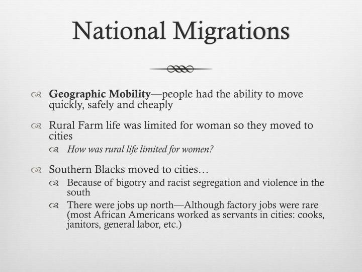National Migrations