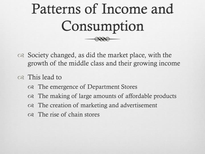 Patterns of Income and Consumption