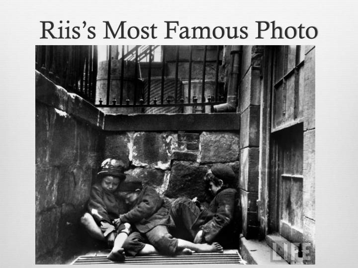 Riis's Most Famous Photo