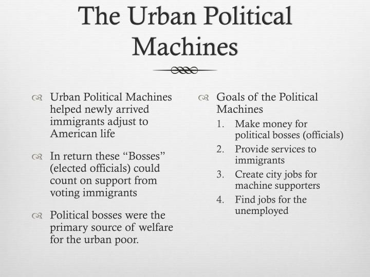 The Urban Political Machines