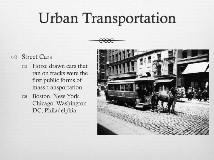 Urban Transportation