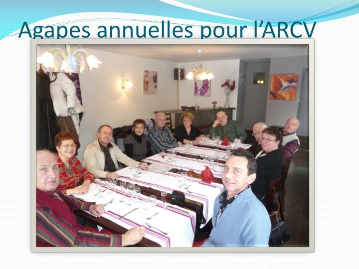Agapes annuelles pour l'ARCV