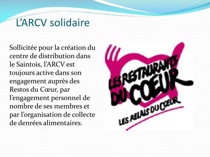 L'ARCV solidaire