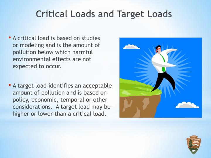 A critical load is based on studies     or modeling and is the